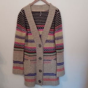 Free People Wool Cardigan Large